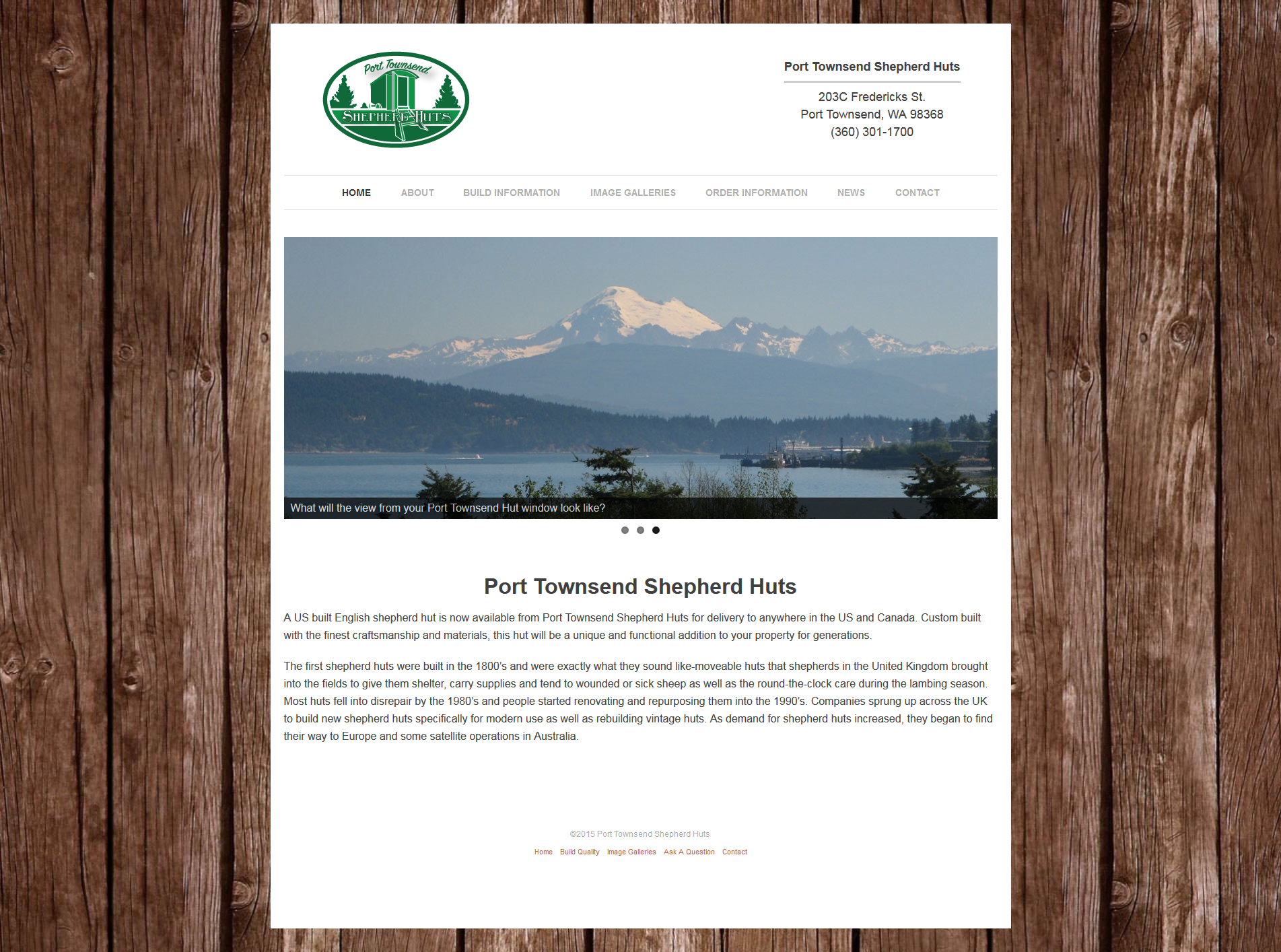 Port Townsend Shepherd Huts