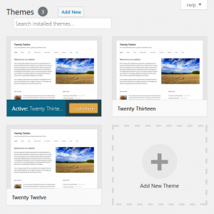WordPress Appearance Options: Theme